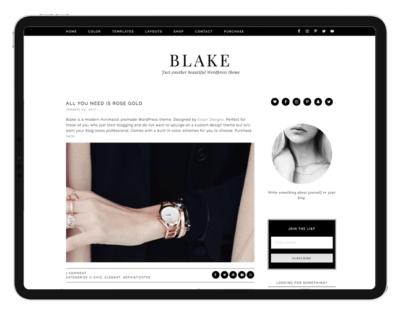 Feminine Wordpress Themes & Design Kits .Eclair Designs