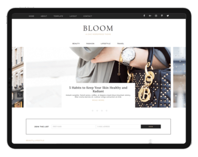 Feminine Wordpress Themes & Design Kits .Eclair Designs